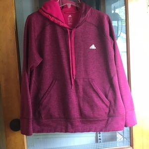 Adidas pink Climawarm Hoodie in XL